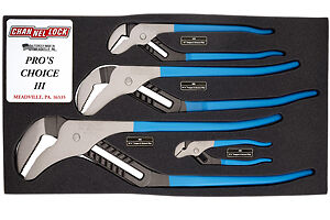 Channellock Inc Pc 3 Pro S Choice Iii Tounge And Grove Pliers Set