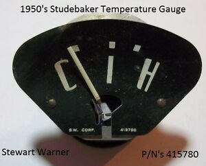 1950 S Studebaker Temperature Gauge Stewart Warner P N S 415780 Made In Usa Oem