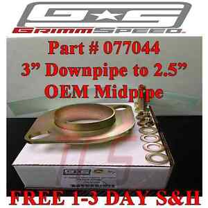 Grimmspeed Exhaust Adapter Flange 3 Downpipe To 2 5 Oem Midpipe Wrx