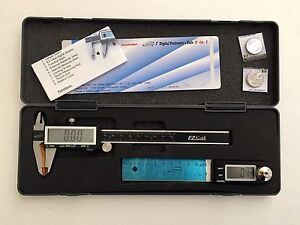 Igaging 4 Digital Protractor Rule Ez Cal Fractional Digital Caliper Set