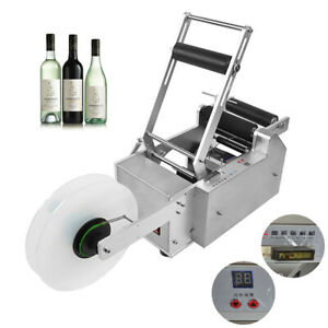 Lt 50s Semi automatic Round Bottle Labeling Machine Labeler Machine Top