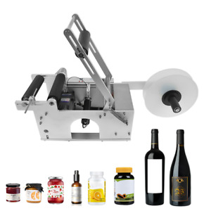 Lt 50s Semi automatic Round Bottle Labeling Machine Labeler Scrolling Portable