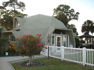Panelized Dome Home Kit 1 198 Sq ft Fire Resistant 225 Wind Guarantee