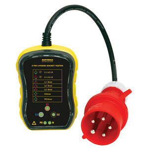 Martindale Pc105 3 Phase Socket Testers 32a Qty 1 inc Vat Reduced