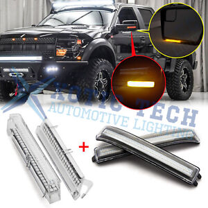 Led Under Back Side Mirror Turn Signal Lights Clear Lens For Ford F 150 09 14