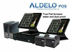 Aldelo Pos Pro Restaurant Complete System 2 Complete Stations Free Edc 100