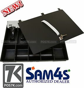 Sam4s Cash Drawer Insert Money Tray 57 5 Bills And 5 Coins With Locking Lid