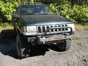 1993 98 Jeep Grand Cherokee Zj Shorty Winch Bullbar Front Bumper