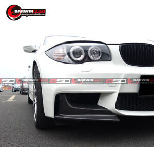 2011 2013 Bmw 1m E82 1 Series Ap Style Carbon Fiber Front Splitter Lips Body Kit