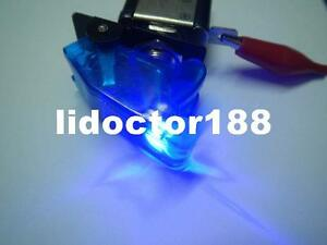10set race Car Illuminated Toggle Blue Switch Transparent Blue Safety Cover