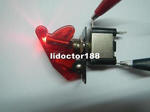 10set race Car Illuminated Toggle red Switch Transparent Red Safety Cover