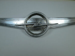 Vintage Opel Admiral Or Kapitan 60s Metal Emblem Logo Collectable Rare Antique
