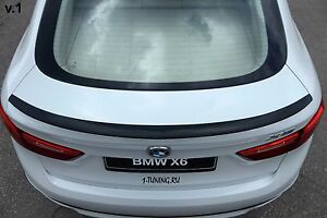 2014 2018 Bmw X6 F16 X6m F86 Rear Wing Trunk Boot Lip Spoiler Abs Unpainted