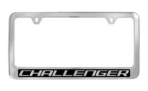 Dodge Challenger Chrome Metal License Plate Frame