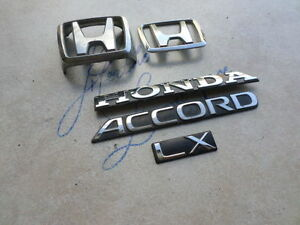 90 92 Honda Accord Lx Front Emblem Tailgate Logo Ornaments Decals Stickers Set