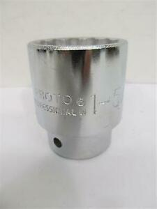 Proto Tools J5552 1 5 8 3 4 Drive 12 Point Standard Socket Made In Usa