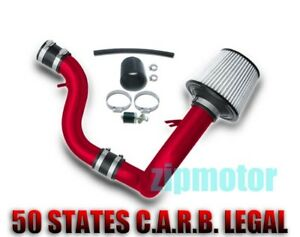 90 93 Acura Integra 1 7 1 8l Induction Cold Air Intake Cone Filter Kit Jdm Red