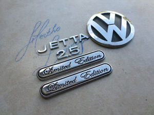 06 10 Vw Jetta 2 5 Limited Edition Tailgate 1k5 853 630 Emblems Logos Decals Set