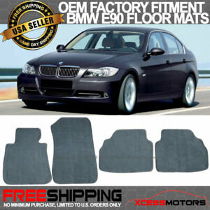 Fits 05 09 Bmw E90 3 Series Floor Mats Carpet Front Rear Gray 4pc Nylon