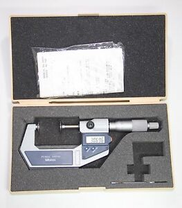 Mitutoyo 323 512 30 Disc Micrometer With Spc Output 25 50 Mm 0 001 Mm