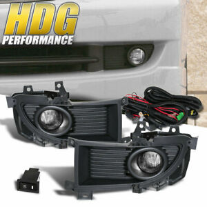 For 04 06 Mitsubishi Lancer Upgrade Fog Lights Lamp Clear Harness Pair Wiring