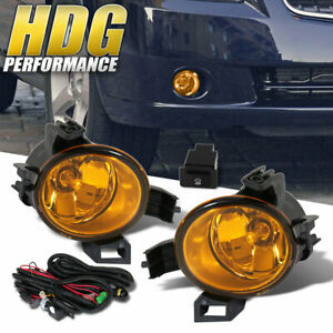 For 2005 2006 Nissan Altima Upgrade Fog Lights Lamp Yellow Harness Replacement