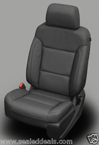 2017 Gmc Sierra Sle Crew Cab Gray Grey Katzkin Leather Seat Replacement Covers