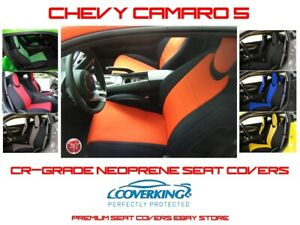 Coverking Tailored Front Rear Cr Grade Neoprene Seat Covers For Chevy Camaro 5