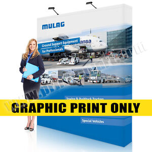 Replacement Graphic 8 Trade Show Pop Up Display Banner Stand Exhibits Banner