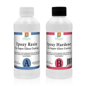 Epoxy Resin 8 Oz Kit For Super Gloss Coating And Table Tops