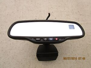 07 10 Cadillac Escalade Esv Ext Rear View Auto Dim Mirror Compass Temperature