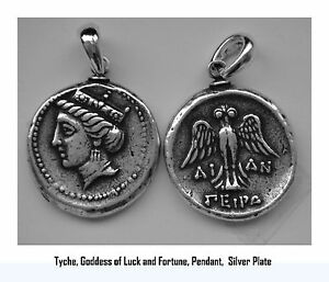 Tyche Goddes Of Luck And Fortune With Owl Pendant 6 S