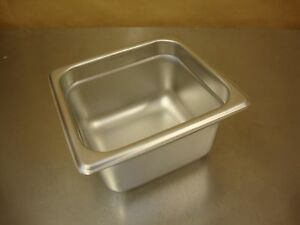 Lot Of 5 Winco Spjm604 4 Deep One sixth Size Anti jamming Steam Table Pan