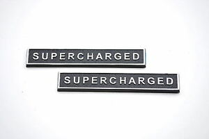 Mustang Supercharged Badge Set Of 2