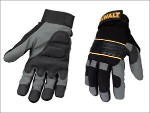 Dewalt Power Tool Gel Gloves Black Grey Dpg33l