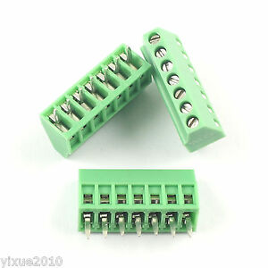 50pcs 2 54mm 0 1 Universal 7 Pin 7 Poles Pcb Screw Terminal Block Connector