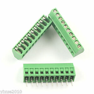 50pcs 2 54mm 0 1 Universal 10 Pin 10 Poles Pcb Screw Terminal Block Connector