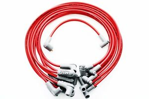 Msd Chevy 8 5mm 90 Degree Red Spark Plug Wires W hei Cap Ends Sbc 35599
