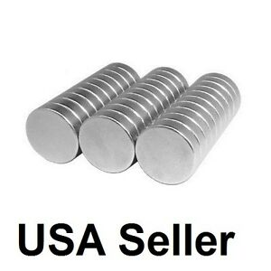 Lot 100 50 1 2 X 1 8 Neodymium Disc Strong Rare Earth N48 Small Fridge Magnets