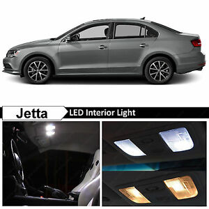 11x White Interior Led Lights Package Kit For 2011 2016 Volkswagen Jetta Mk6 Vw