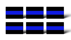 6 Mini 1 X 1 5 Thin Blue Line Police Sticker Decal Car Lives Matter Tag Phone