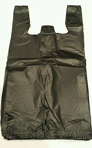 Quality Plastic Shopping Bags 600ct Black Grocery Store Bags small Size 1 6