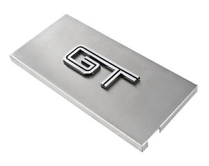 2005 2009 Ford Mustang Brushed Satin Stainless Engine Fuse Box Cover W Gt Emblem