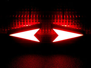 10 Pcs Red Led Arrow Triangle Turn Signal Direction Shaped Bright Display 9 12v