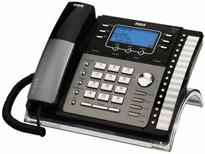 Rca Visys 4 line Business Phone black silver