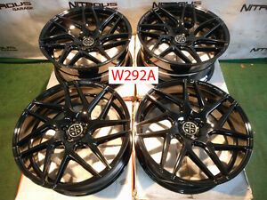 22 Blaque Diamond Bd3 Concave Audi A7 S7 A8 A8l Staggered Wheels Black W292a