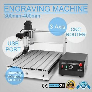 230w 3040 3 Axis Cnc Router Engraver 3d Engraving Drilling Milling Machine