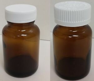 2 Oz 60ml Amber Glass Packers With Caps Wide Mouth Medicine Bottles 72 Pack