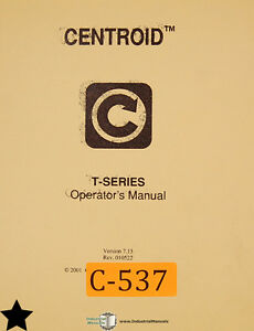 Centroid T Series Control System Mastercam 386 Lathe Operations