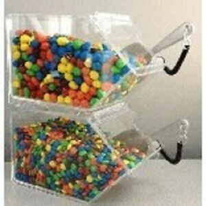 Bulk Foods Stacking Candy Cereal Nuts Spices Bin Two Piece Set